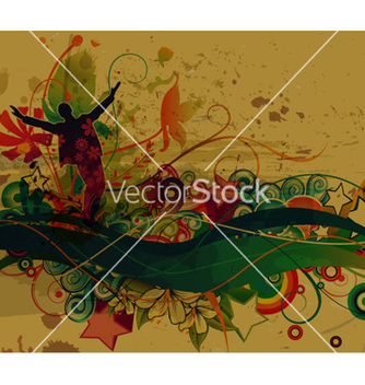 Free retro grunge background vector - Free vector #258381