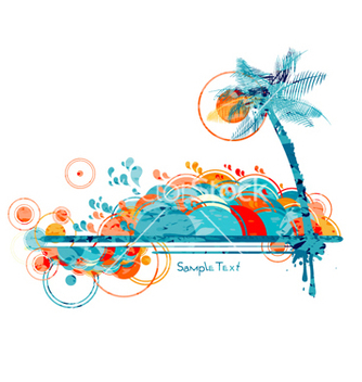 Free grunge summer vector - Kostenloses vector #258681