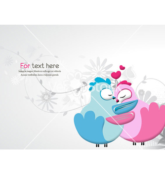 Free love birds vector - vector gratuit #258701