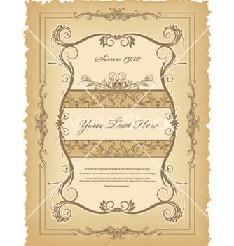 Free vintage label vector - Kostenloses vector #258941