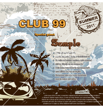 Free summer music background vector - Free vector #259661