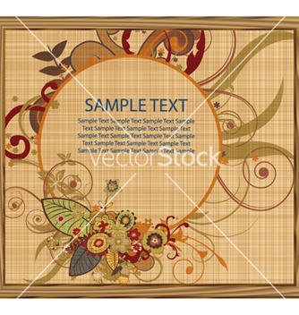 Free painting with floral frame vector - Free vector #260451
