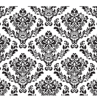 Free damask seamless background vector - Kostenloses vector #260551