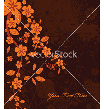 Free autumn floral background vector - Free vector #260741