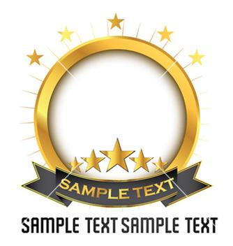 Free vintage gold emblem vector - Free vector #260951