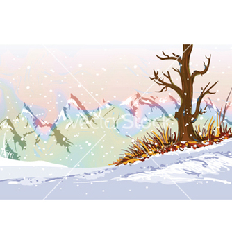 Free winter background vector - Free vector #261011