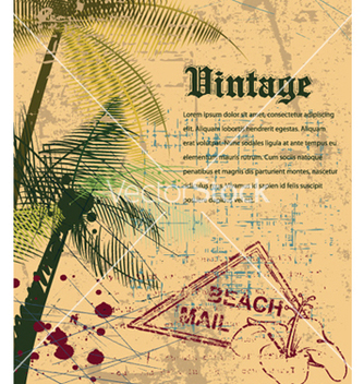 Free vintage summer background vector - Kostenloses vector #261121
