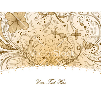 Free floral greeting card vector - Free vector #261131