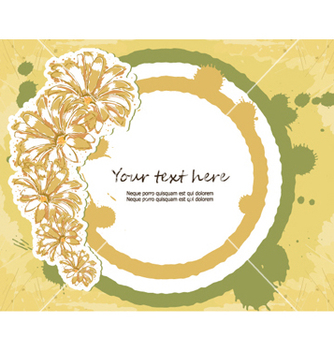 Free colorful floral frame vector - Free vector #261431