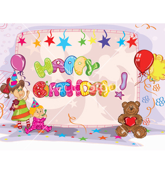 Free kids birthday party vector - Free vector #261441