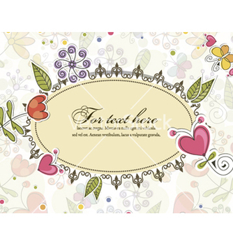 Free floral frame vector - Free vector #261681