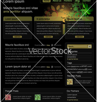 Free website template vector - Free vector #261751