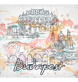 Free budapest doodles with grunge vector - vector #261841 gratis