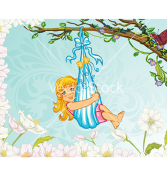 Free little girl playing vector - Kostenloses vector #262021