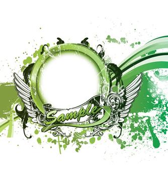 Free grunge green background vector - Kostenloses vector #262081