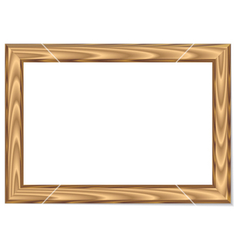 Free wood frame vector - Free vector #262321