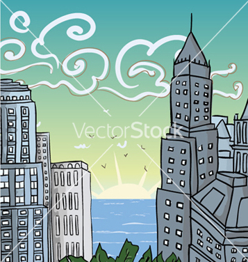 Free cartoon city vector - Free vector #262501