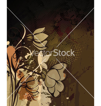 Free autumn floral background vector - Free vector #262621
