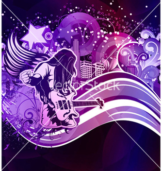 Free music poster vector - Free vector #262641