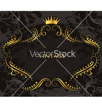 Free vintage gold frame vector - Kostenloses vector #262861