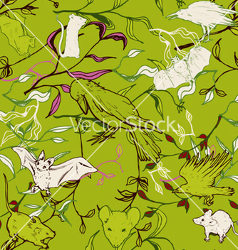 Free retro seamless pattern vector - Free vector #262921