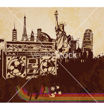 Free music poster vector - Free vector #263001