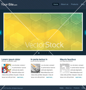 Free modern website template vector - Free vector #263011