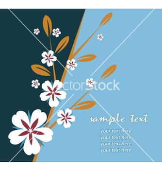 Free retro floral vector - Free vector #263101