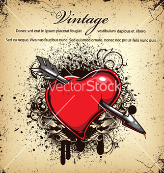 Free heart with grunge vector - Free vector #263191