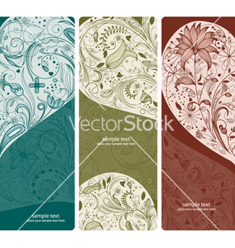 Free floral banners set vector - Kostenloses vector #263541