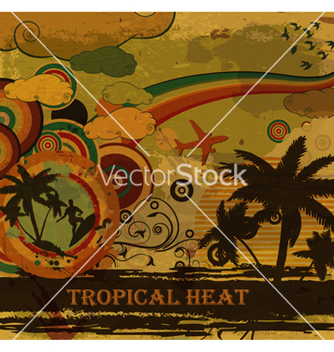 Free retro grunge summer poster vector - Free vector #264231