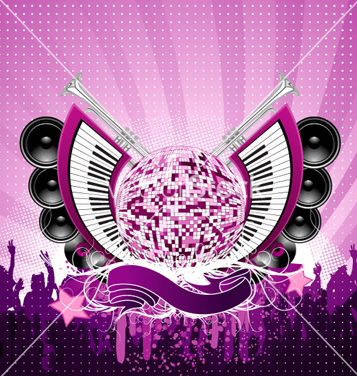 Free abstract music poster vector - Free vector #264451