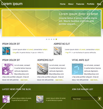 Free modern website template vector - Kostenloses vector #264741