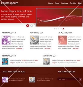 Free modern website template vector - Kostenloses vector #265031