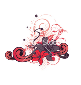 Free abstract floral design vector - Kostenloses vector #265141