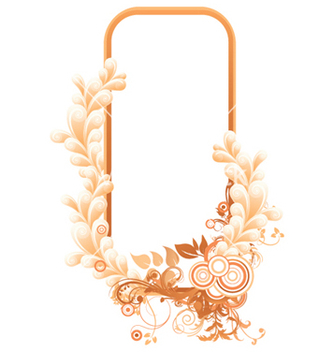 Free retro floral frame vector - Free vector #265281