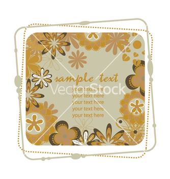 Free retro floral frame vector - Free vector #265301