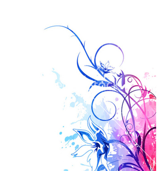 Free watercolor floral background vector - Free vector #265521