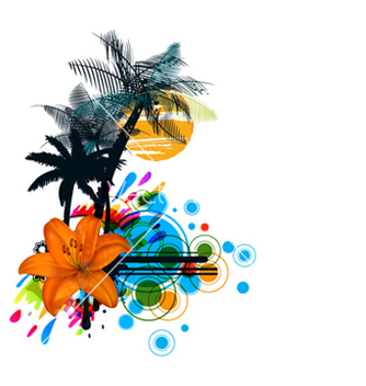 Free colorful summer vector - Free vector #265571