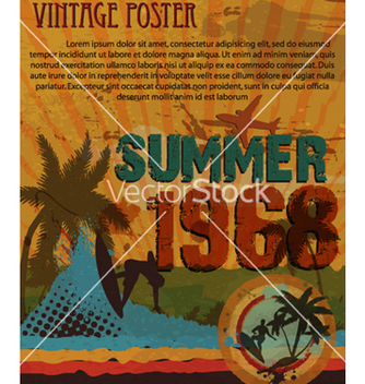 Free retro grunge summer poster vector - Free vector #265871