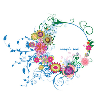 Free floral frame vector - Free vector #265991