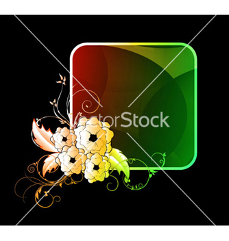 Free abstract colorful floral frame vector - Free vector #266341