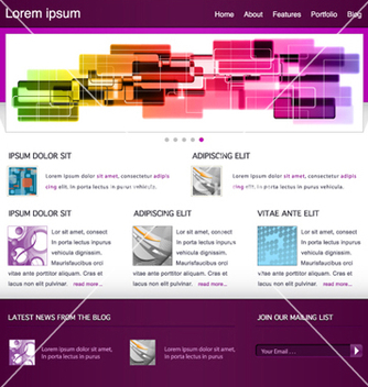 Free modern website template vector - Free vector #266361