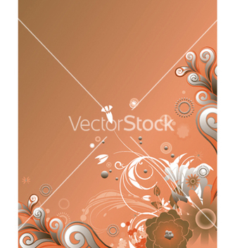 Free retro floral vector - vector gratuit #266621