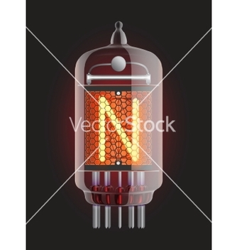 Free nixie tube indicator vector - vector gratuit #266661