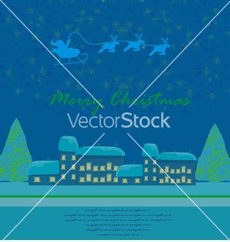 Free happy new year card with santa vector - бесплатный vector #266721