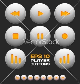 Free media player buttons vector - Free vector #266751