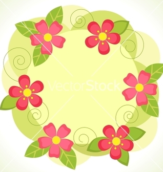 Free floral frame vector - Free vector #266851