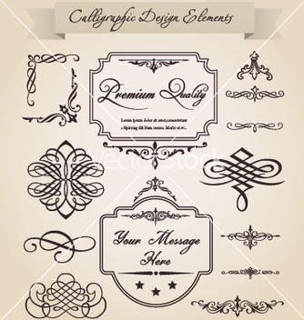 Free calligraphic design elements vector - Free vector #266991