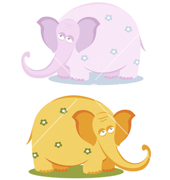 Free funny pink elephants vector - Free vector #267021